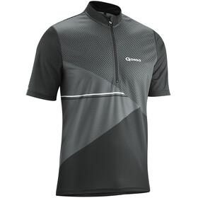 Gonso Ripo Fietsshirt korte mouwen Heren grijs/zwart
